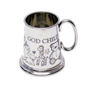 God Child English Pewter Tankard Mug - Christening Baptism or Naming Day Gift