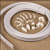 4.5m FLEXIBLE STRAIGHT & BAY WINDOW CURTAIN TRACK RAIL Enough for 3 Standard Windows, Top or Face Fix all Fixings Included