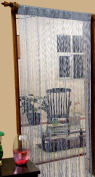 Homescapes - Spaghetti String Curtain - Blue - 100% Polyester - Hand Woven High Density Superior Door Curtain Panels - 200cm or 79 Inch drop - Can Be Cut To Size