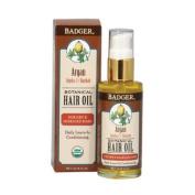 Argan Hair Oil for Dry & Damaged Hair Badger 60ml Liquid