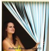 Caravan/RV Door Curtain,Bug Blind,Fly Blind,Strip Blind-SKY BLUE & WHITE