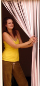 Tube Type Door Curtain,Bug Blind,Fly Blind,Strip Blind-SOFT PINK & WHITE