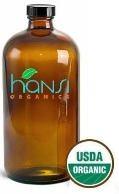 Hansi Organics Argan Oil 100% Organic Certified 8oz (237ml) Moisturiser and Leave-in Hair Treatment