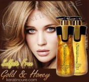 Colour Keratin Safe Shampoo and Conditioner Gold and Honey Bio Brazilian After Care 460ml 15 Fl Oz