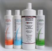 Keratin Forte Plus, Extra Strength Hair Treatment 4 Bottles 1000ml Kit