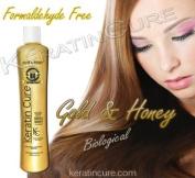 Keratin Hair Treatment Biological Gold & Honey Bio Brazilian Formaldehyde Free Keratin Cure 500ml 16 Fl Oz