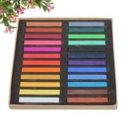 24 Colours Non-toxic Temporary Hair Colour Chalk Square Hair Chalks