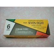 24 PAON SEVEN EIGHT CREAMY TYPE DYE HAIR colour DARK BROWN # 6