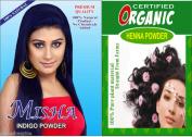 100g Pure Indigo + 100g Certified Organic Pure Henna Powder Hair Colour