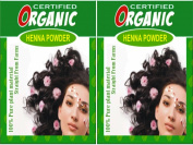 (Qty. 2) 100g Certified Organic Henna Powder for Hair Colour Conditioning. Golden Brown Colour.