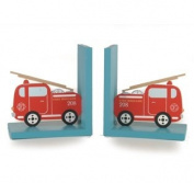 Sass & Belle Transport Fire Engine Bookends - 16 X 15 Cm