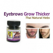 Black PhomThong Natural Facial Hair Eyebrow Growth Beard ,Sideburns,Moustach Cream 20g