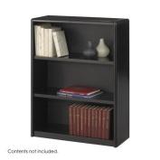 Safco 7171BL Black 3-Shelf ValueMate Economy Bookcase