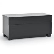 Rge Designs Hi Gloss Multi Media TV Storage and Display Unit, 90 x 42 x 45 cm, Black