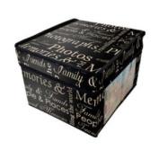 Black Retro Vintage Design Photo Picture Storage Chest Box Trunk Fold Flat