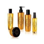 Orofluido Set (Package of 5 Items) Shampoo, Conditioner, Elixir, Mask, Shine Spray