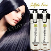 Sulphate Free Keratin Cure Shampoo Conditioner Set Chocolate Max 960ml 32 Fl Oz Bio-brazilian