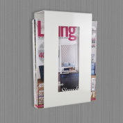 Contemporary Wall Mounted Magazine Newspaper Rack in Ivory