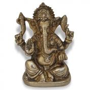 Long Trunk Ganesha Sculpture Handmade Brass Hindu God Statues from India