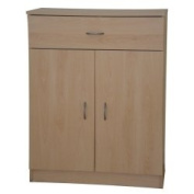 Storage Cupboard or Sideboard Beech 2 Doors 1 Drawer Selby