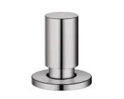 BLANCO pull-out knob, round, stainless steel brushed finish, 222118