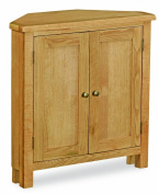 Lanner Oak Small Corner Cupboard