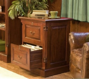La Roque Mahogany Two Drawer Filing Cabinet Home Office