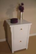 Hampton Filing Cabinet 2 Drawer Solid White Ash Assembled