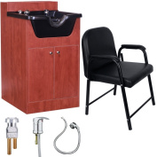 Salon Shampoo Bowl Storage Cabinet with Chair Package SU-P4CP