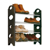 4 Tier Free Standing Shoe Rack Stand Storage Organiser Shelf