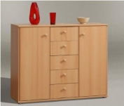 Tempra Wide Beech Sideboard Home or Office Furniture - UK ONLY DELIVERY ONLY