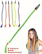 Green St Patrick's Day Costume Braided Hair Extension