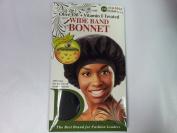 Donna Wide Band Bonnet (Olive Oil + Vitamin E Treated) Black