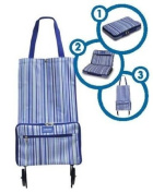 Shopping Bag with Wheels Pattern
