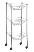 Premier Housewares 3-Tier Storage Cart, Chrome