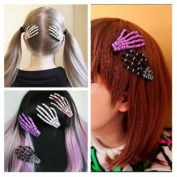 Personality Ghosts Skeleton Hand Bone Hairpin Clip -- Random Colour