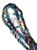 Fuzzy, Raggedy Blue Colours Hippie Hair Wraps Hair Extensions for Dreads, Braids, Curls