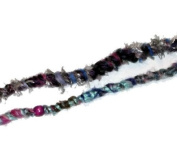 Fuzzy, Raggedy Purple Colours Hippie Hair Wraps Hair Extensions for Dreads, Braids, Curls