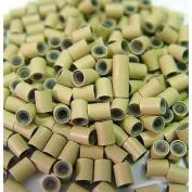 200 PCS 4mm Silicone Copper Micro Tube Rings Links Beads Linkies For I Bonded Tip Stick Glue Hair Extensions