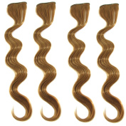 ECOSCO 60cm 8pc/set 150g Gorgeous Long Curly Wave Clips in Hair Extensions for Women's Beauty Hairsalon Wig in Fashion