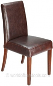 Firenze Dining Chair Brown Leather
