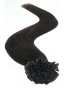 46cm 50g 2# Dark Brown 100% Remy Pre Nail Tipped Hair Extensions in Fashion.