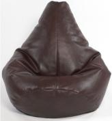 X-L Highback Gaming Beanbag Faux Leather BROWN Bean Bag Chair