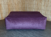 Zippy Washable - Purple Chennille Bean Footstool - Cube - Size 70cm x 46cm x 20cm Foot Stool