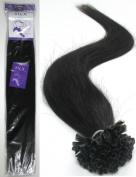 Grammy 46cm Virgin Remy Keratin U Stick Human Hair Extensions 50g 100S / Pack Colour - #1 Jet Black