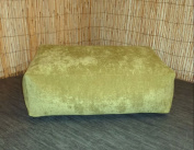 Zippy Washable - Green Chennille Bean Footstool - Cube - Size 70cm x 46cm x 20cm Foot Stool