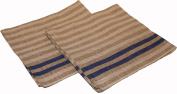 Pinetta - Sauna bench cover - stripes, blue 2 pcs, 45x50 cm (Original from Finland) [555c]