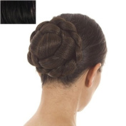 Black Lattice Effect Clip In Bun | Clip On Glamorous Hairpiece | Available in 5 Colours