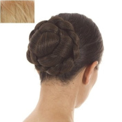Golden Blonde Lattice Effect Clip In Hair Bun | Clip on Glamorous Hairpiece | Available in 5 Colours