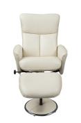 Birlea Orlando Swivel Chair, Cream